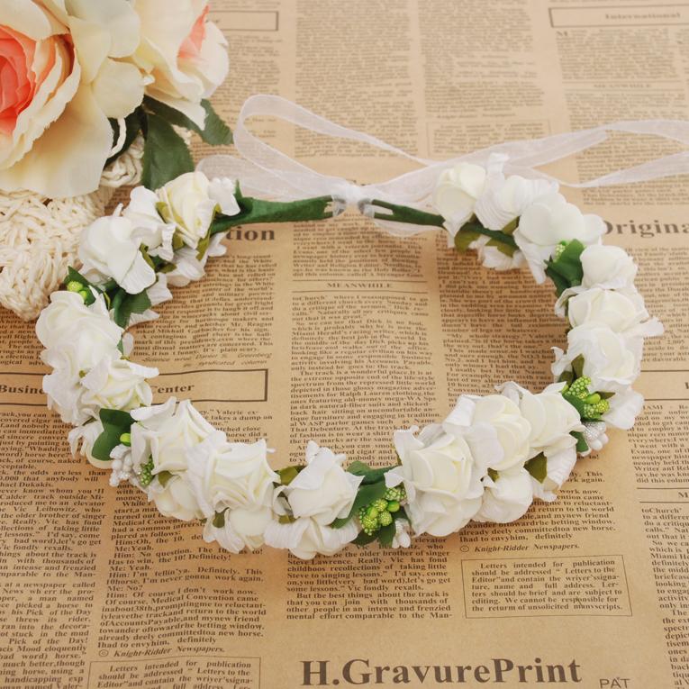 J72 pure white flower classical white rose garland charming j72 pure white flower classical white rose garland charming bridesmaid flower garland thumbnail 1 mightylinksfo