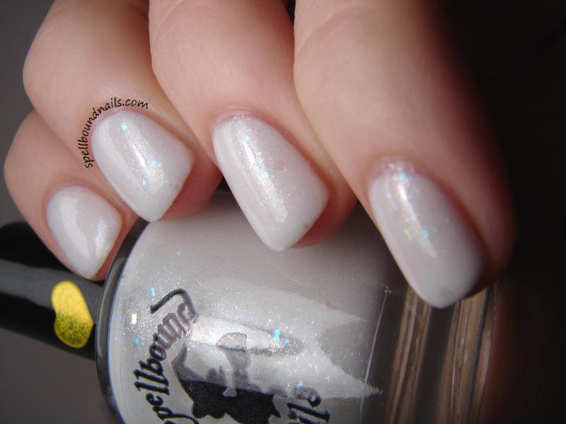 Dew Drop Custom Shimmer White Nail Polish Iridescent