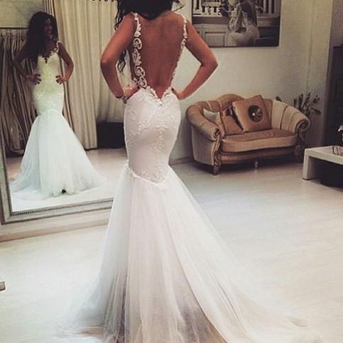 Backless Wedding Dress Mermaid