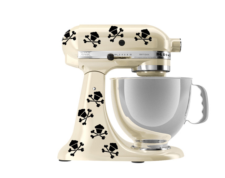 Kitchenaid Mixer Art 8 Skull Cupcake Decals On Storenvy