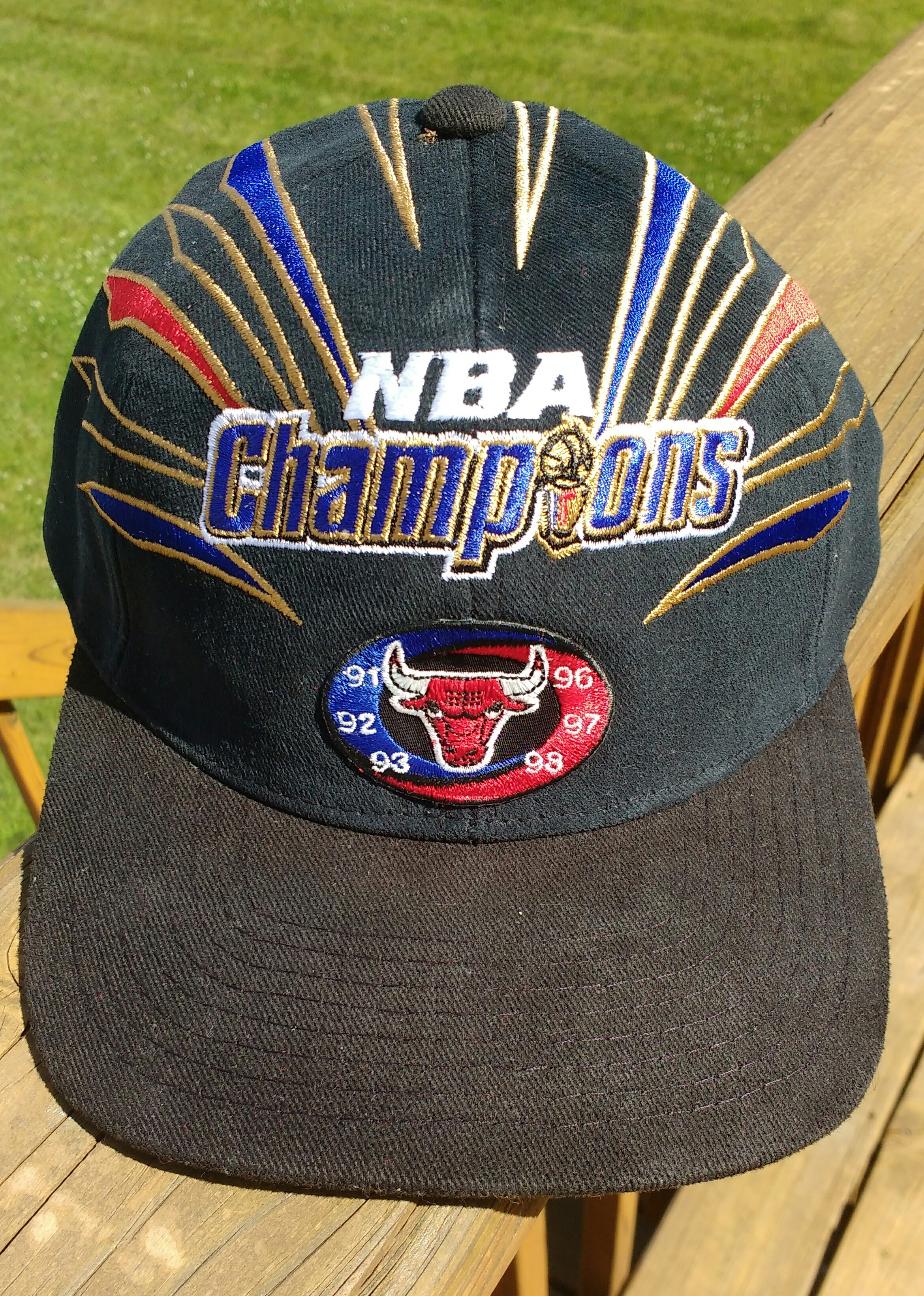 43333a7a527 ... uk vintage 1998 chicago bulls championship hat by starter thumbnail 1  5aa37 1d84b