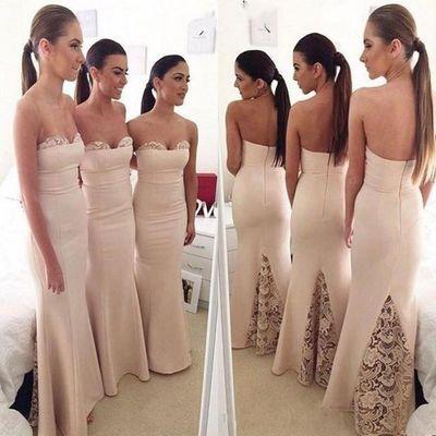 Long bridesmaid dresses, mermaid