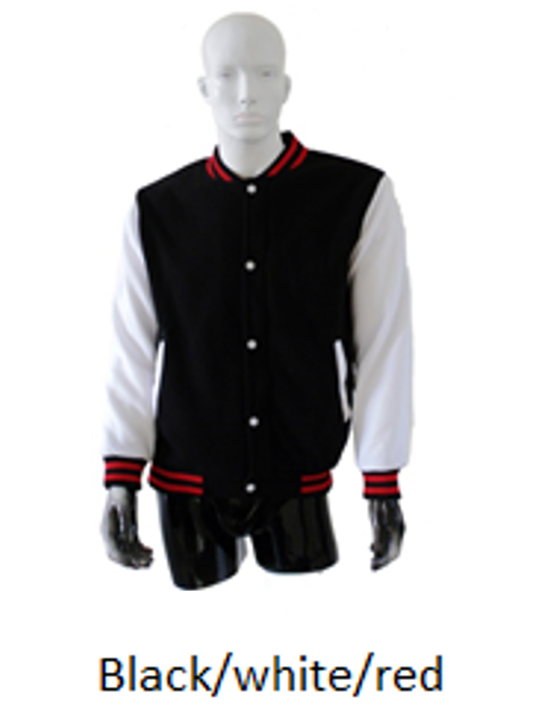 Varsity Jacket Black White Red Imprintee Pte Ltd Online