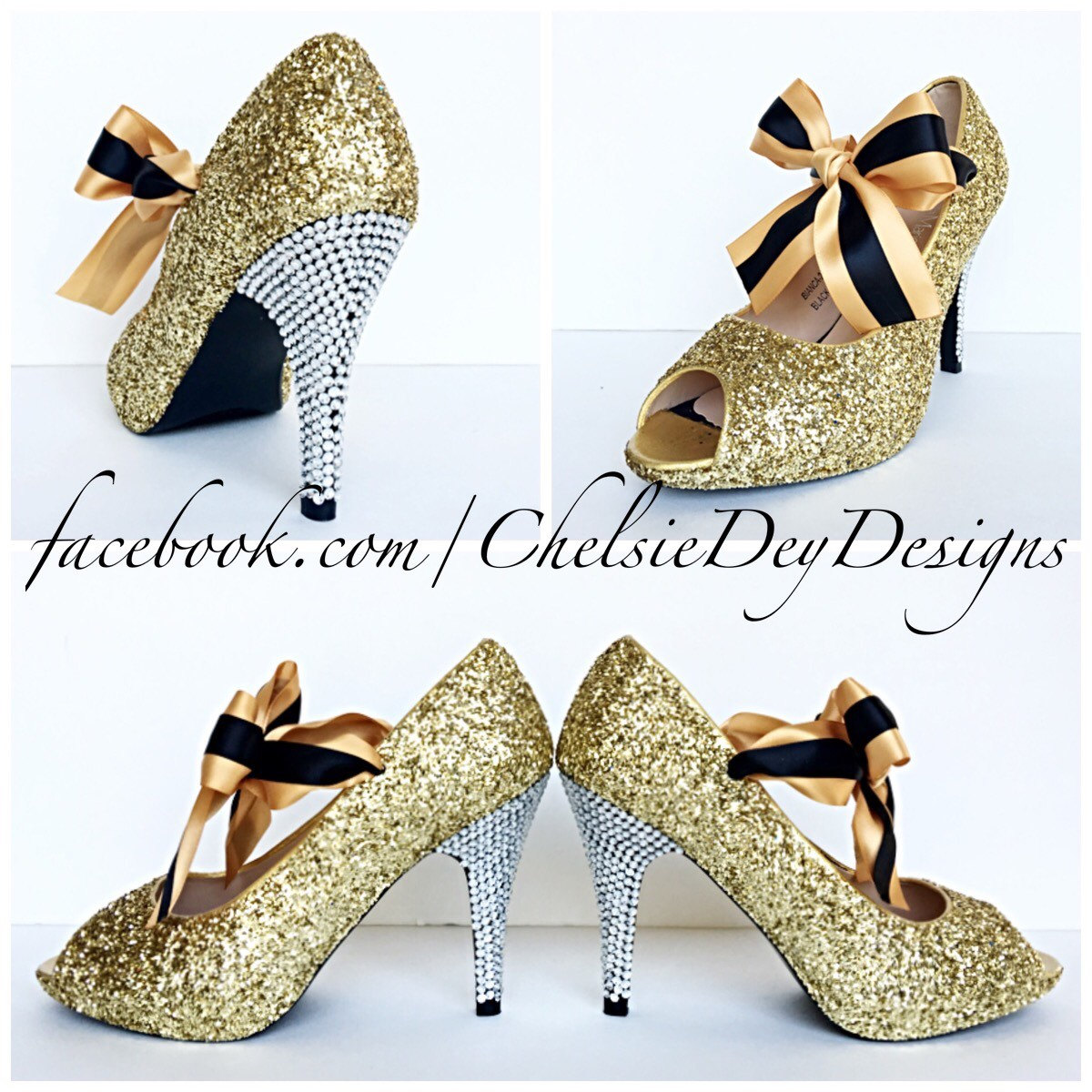 Gold High Heel Bridesmaid Name Champagne Party Wedding: Sparkly Champagne Wedding Shoes