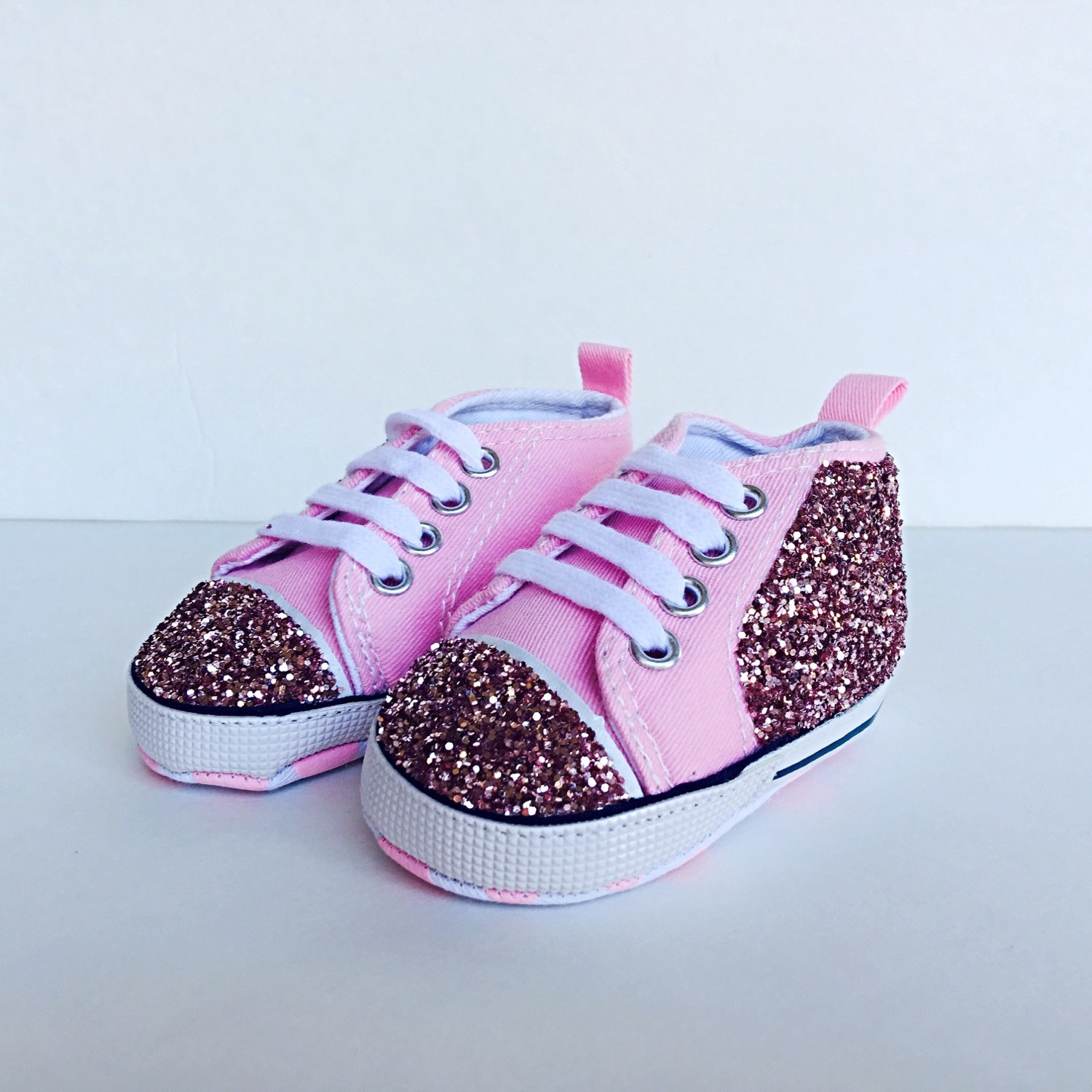 9ad8a59082e2 Baby Glitter Shoes - Pink Kids Chucks - Bubblegum Light Pink ...