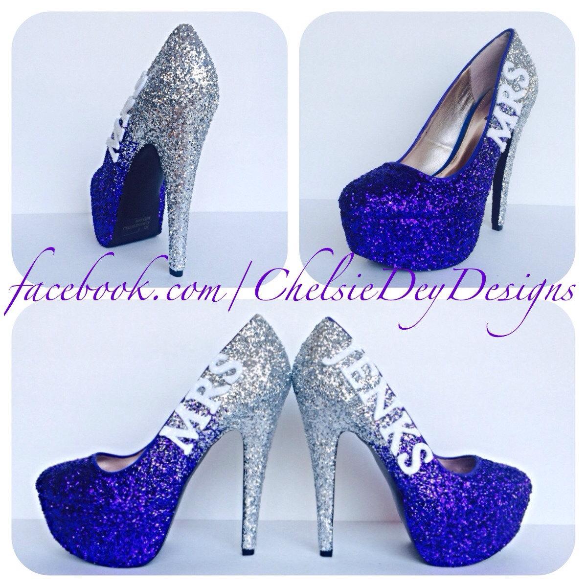 6b0f14368f Purple Glitter High Heels - Silver Royal Purple Eggplant Ombre Pumps ...