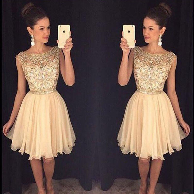 Cute Homecoming Dresses,Sparkly Beaded