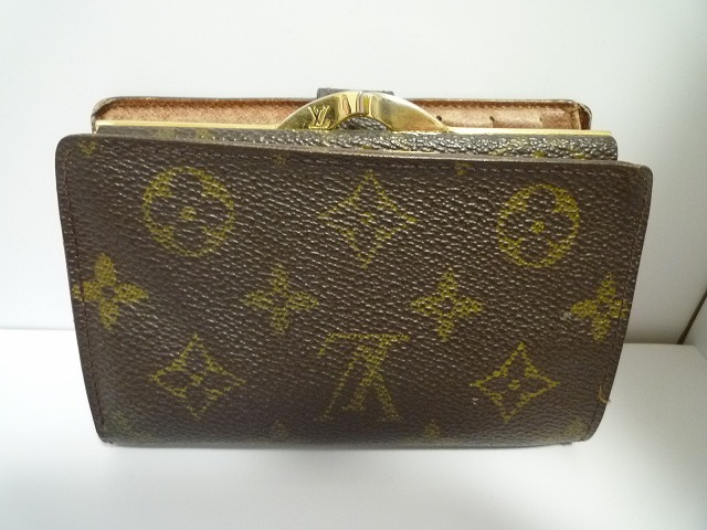 dcfe2c79d111 ... 100 authentic louis vuitton french kisslock monogram wallet coin ...