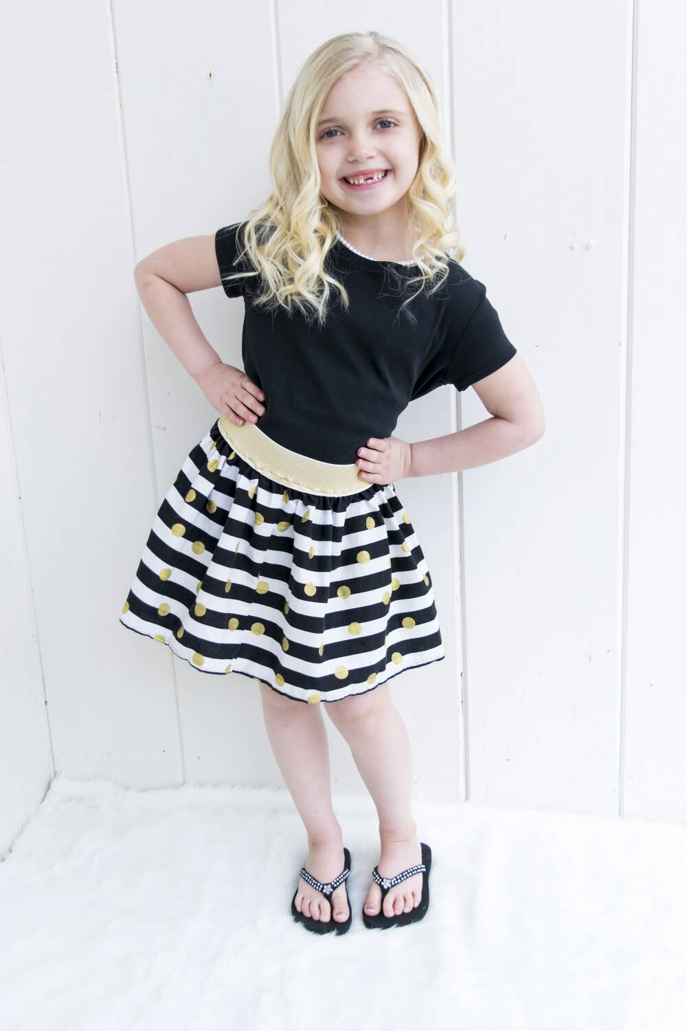 Girls Skirts Baby Skirt Gold Skirt Girls Skirt Baby Skirt Toddler Circle  Skirt Toddler Skirt Black Gold White sold by BizzieBeeBoutique on Storenvy