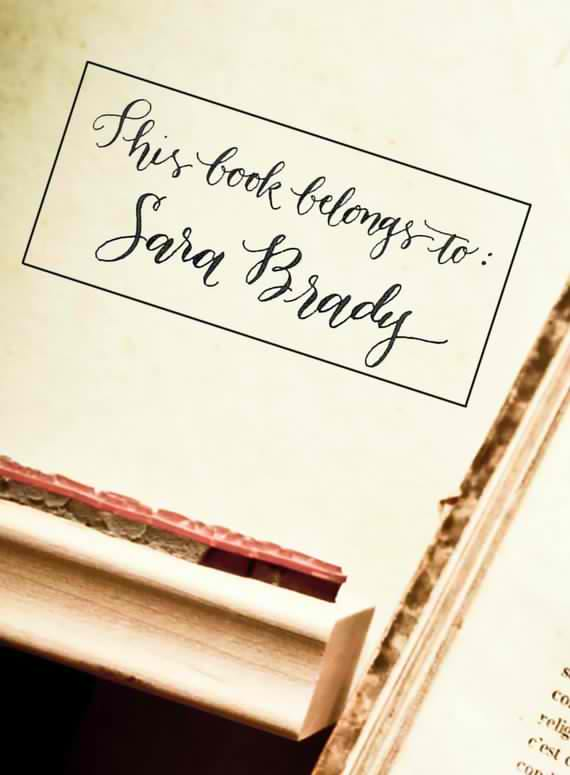 This Book Belongs To Your Name Custom Handwritten