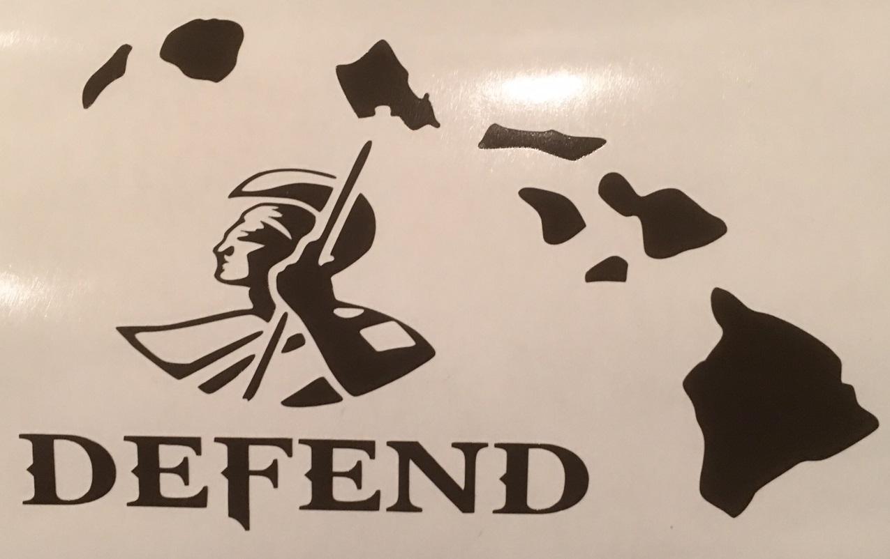 Defend Hawaiian Islands W King Kamehameha Vinyl Decal Available - Custom vinyl decals hawaii