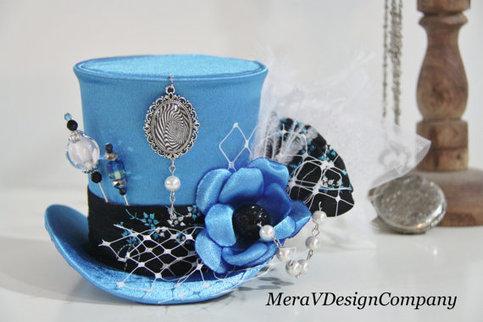 Meravdesigncompany Women Mini Top Hat Mad Hatter Alice