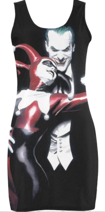 Harley Quinn Joker Comic Book Bodycon Dress