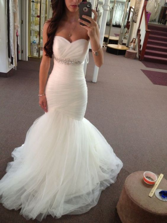 dfae095120d WD36 Mermaid Beading Charming Wedding Dresses