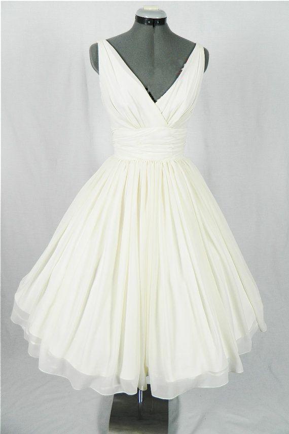 84ac752a016f Ivory Chiffon V Neck Short Wedding Dresses,Wedding Dress,Off the Shoulder  Simple Beach