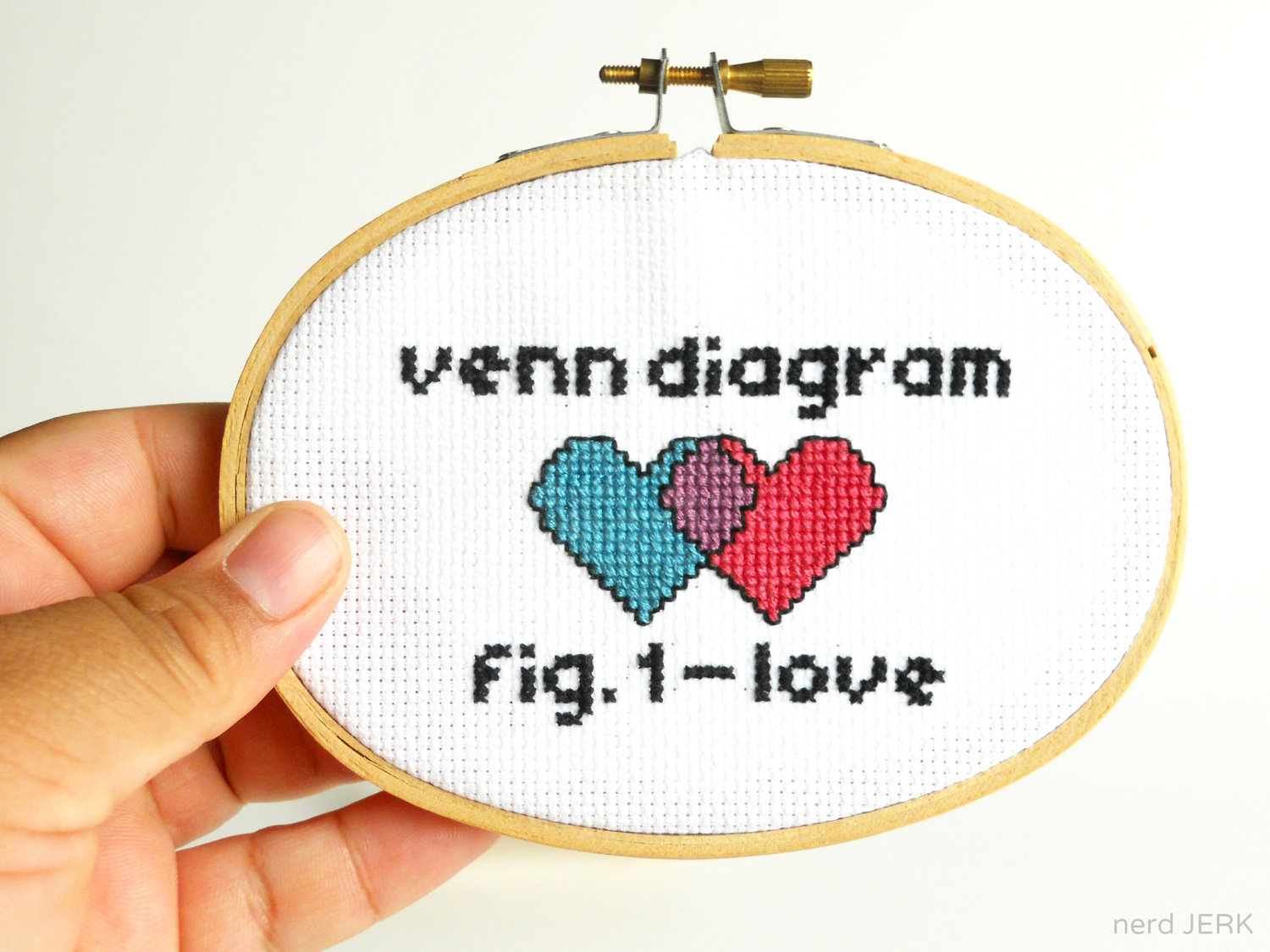 Diy nerdy cross stitch kit venn diagram of love 008 complete ilfullxfull407197636icdporiginal pooptronica Gallery