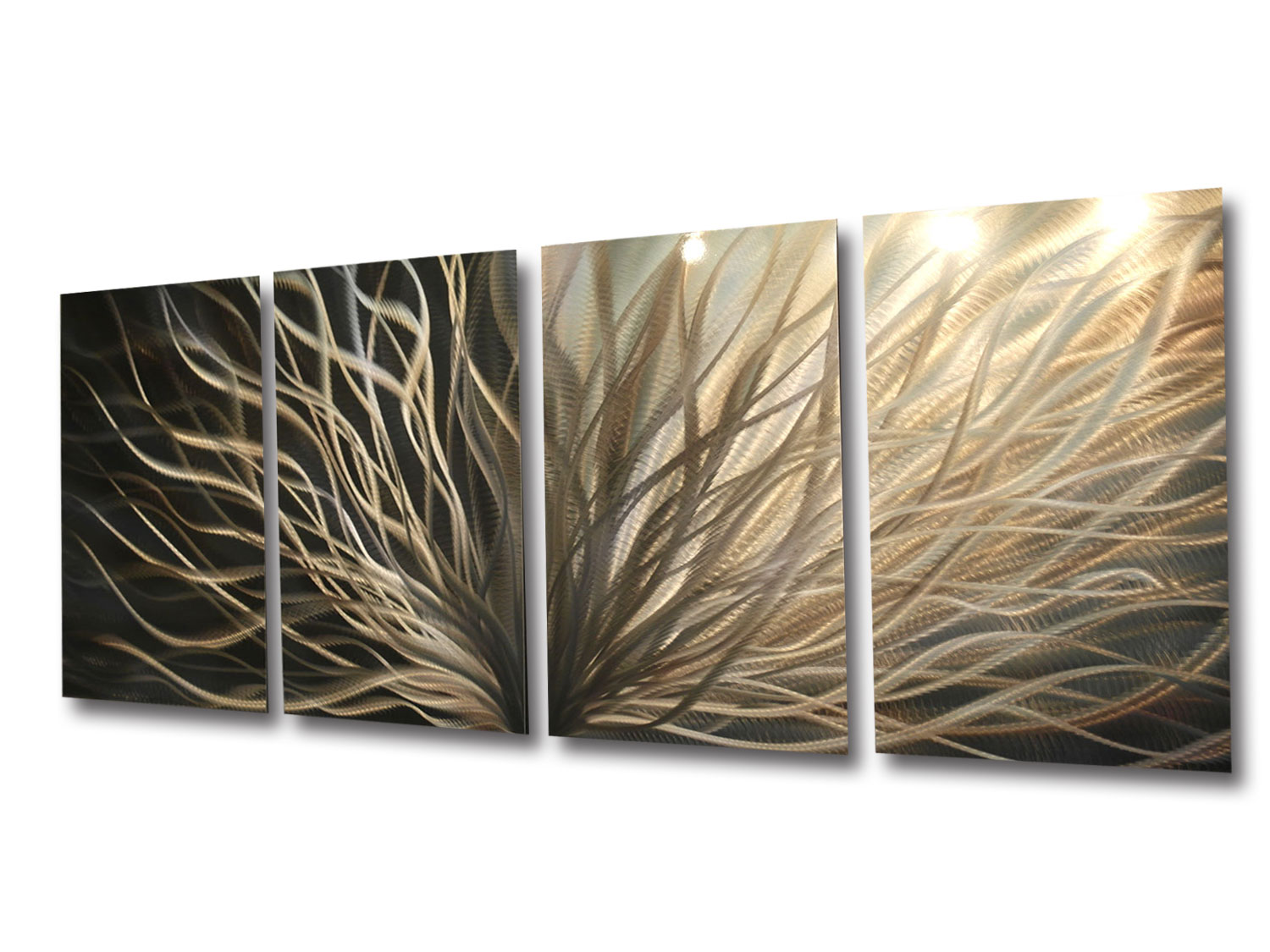 f06952fdc98 Abstract Metal Wall Art- Radiance Gold Silver -Contemporary Modern Decor on  Storenvy