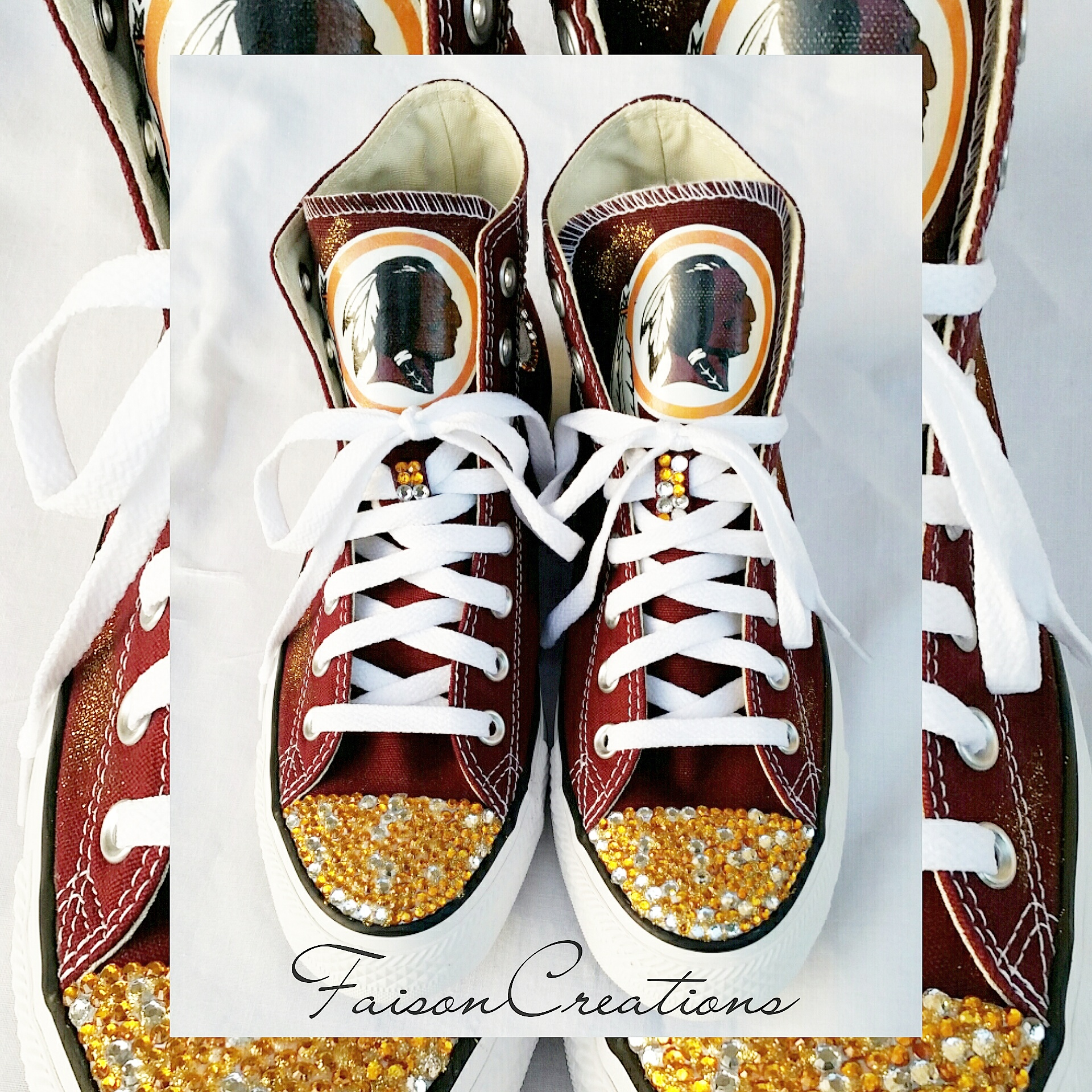 11703d7e Adult Custom Redskins Converse from FaisonCreations