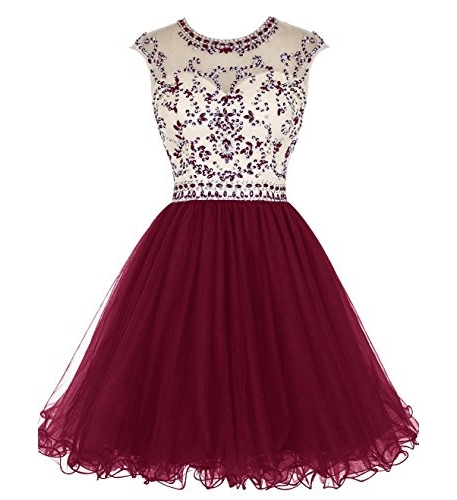 5f3c38792080 Maroon short homecoming dress