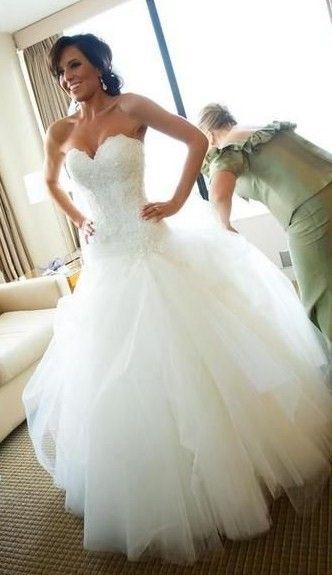 Beautiful Wedding Dresses White Ball