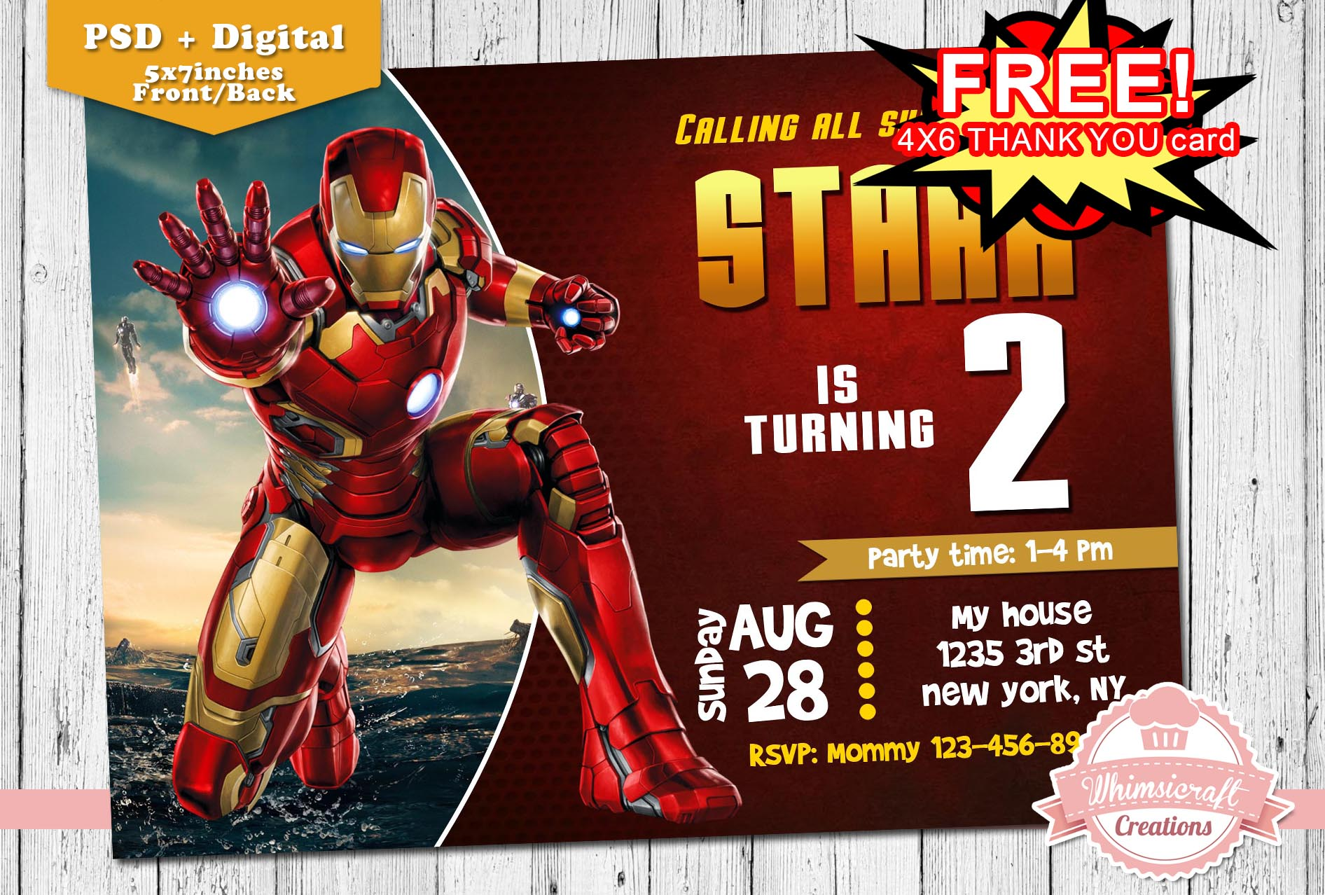 Ironman 20birthday 20invitation Original