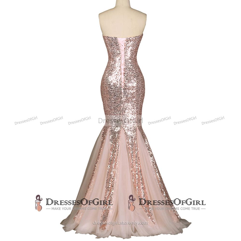 b67f2ba7a25f Sexy Trumpet Sweetheart Glitter Prom Dress
