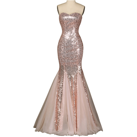 Sexy Trumpet Sweetheart Glitter Prom Dress Sparkling