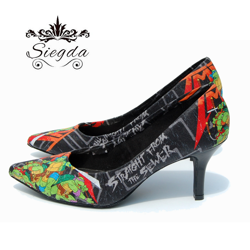 050a1030756 Straight Out Of The Sewers Pointed Toe Heels 3 inch on Storenvy