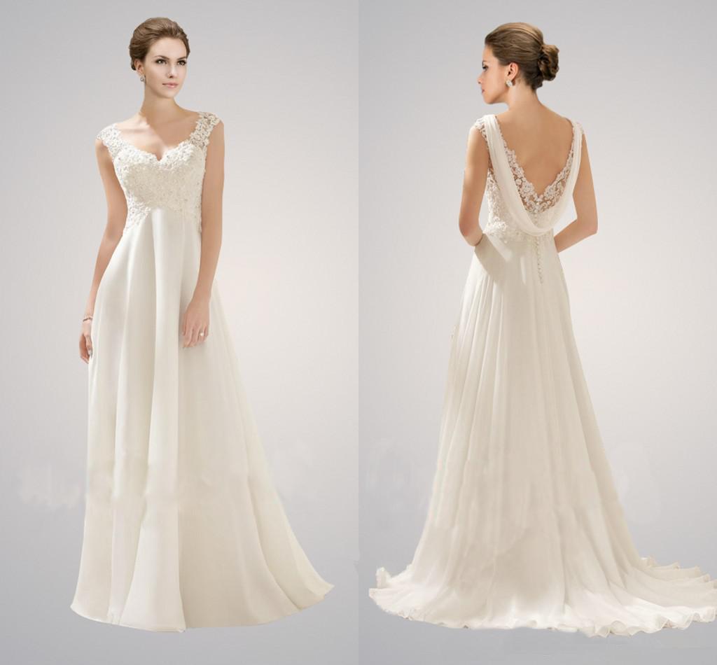 chiffon wedding dress , cheap wedding dress ,handmade free custom ...