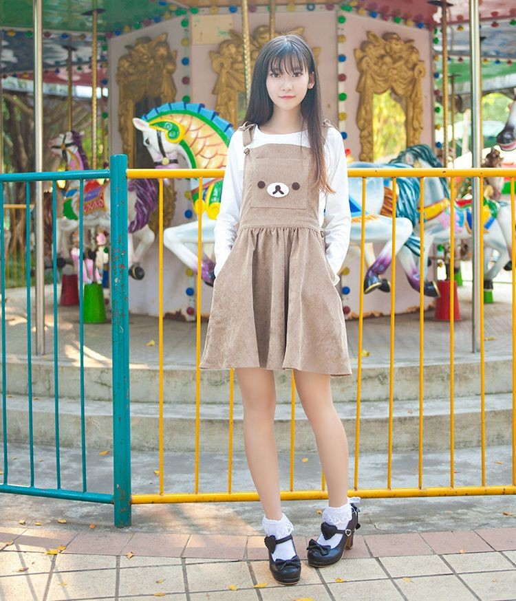kawaii clothing  vestido rilakkuma dress wh158  online