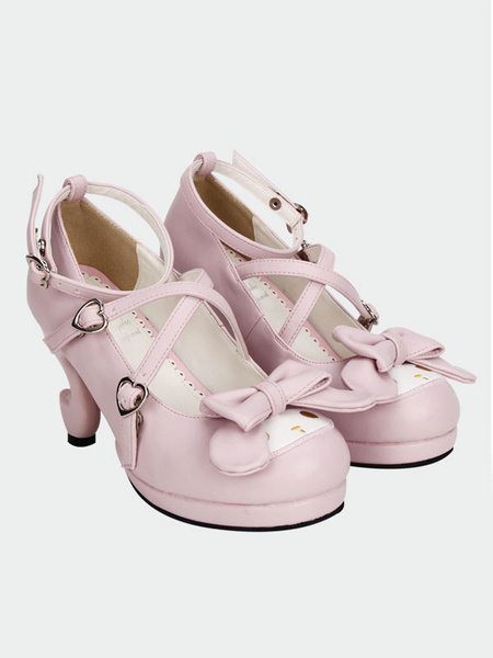 f808668d84fa Kawaii 20 20heart 20buckle 20sweet 20lolita 20shoes 20with 20special  20shaped 20heels 20side small
