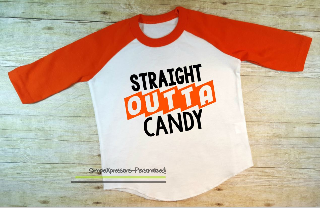 58e1aa22 Straight Outta Candy- toddler Halloween raglan shirt - Thumbnail 1