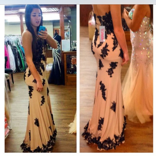 A348 Tailor-Made Prom Dresses, Black