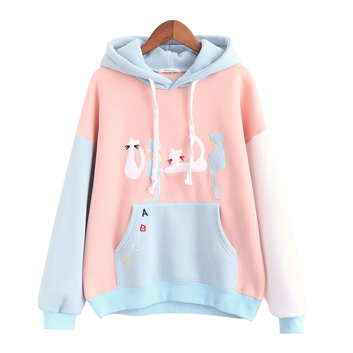 Harajuku cat fight hoodies · Harajuku fashion · Online Store Powered ... cda15c084f43