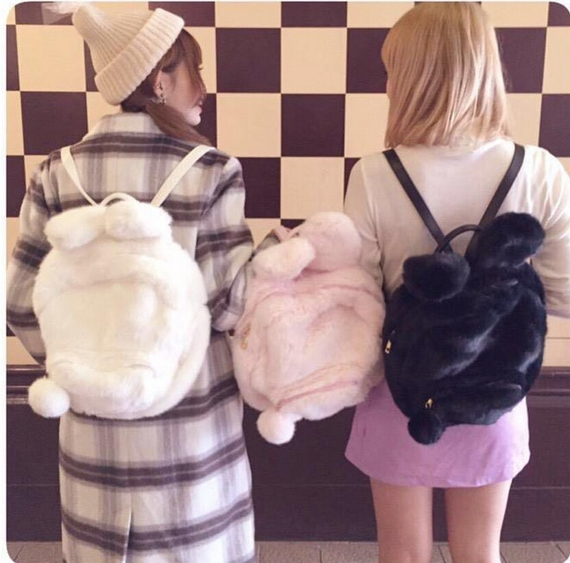 0c7009430bc9 Lolita Furry Rabbit Plusb Winter Backpack · Harajuku fashion ...