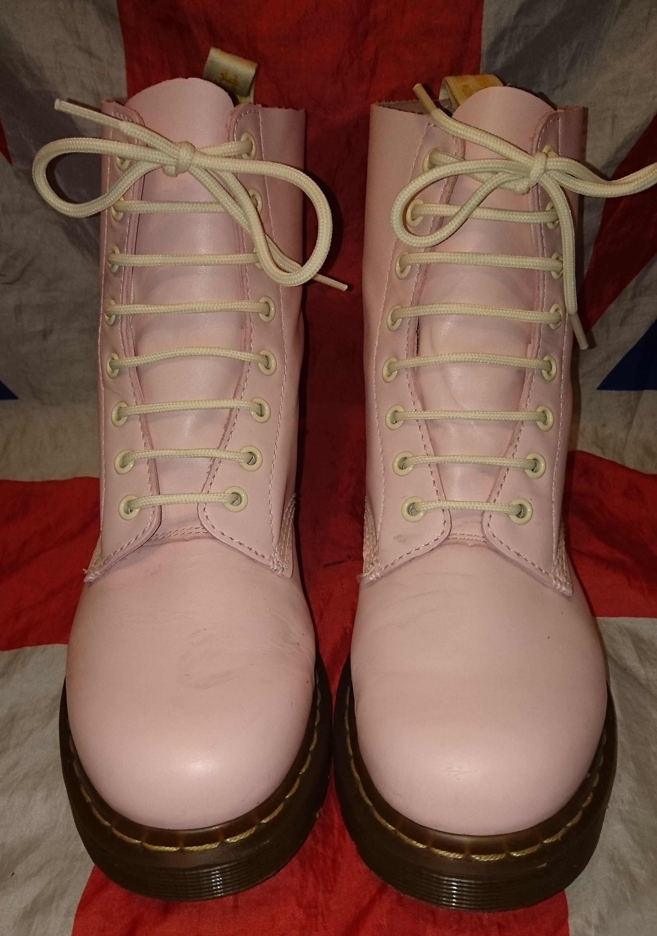 8a1abffb0f4 RARE - Pascal - Baby Pastel Pink Cream Patent Leather Dr Doc Martens ...