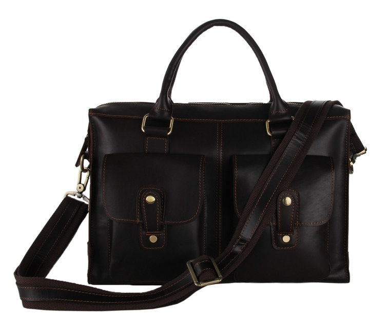 8baa7b4e1a Christmas Gift Top Quality Cowhide Leather Bag Business Macbook Bag  Briefcase Satchel--FREE SHIPPING