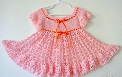 3fbaaae1b2a5 Crochet newborn baby girl dress , cotton baby dress, handmade crochet  summer baby dress -