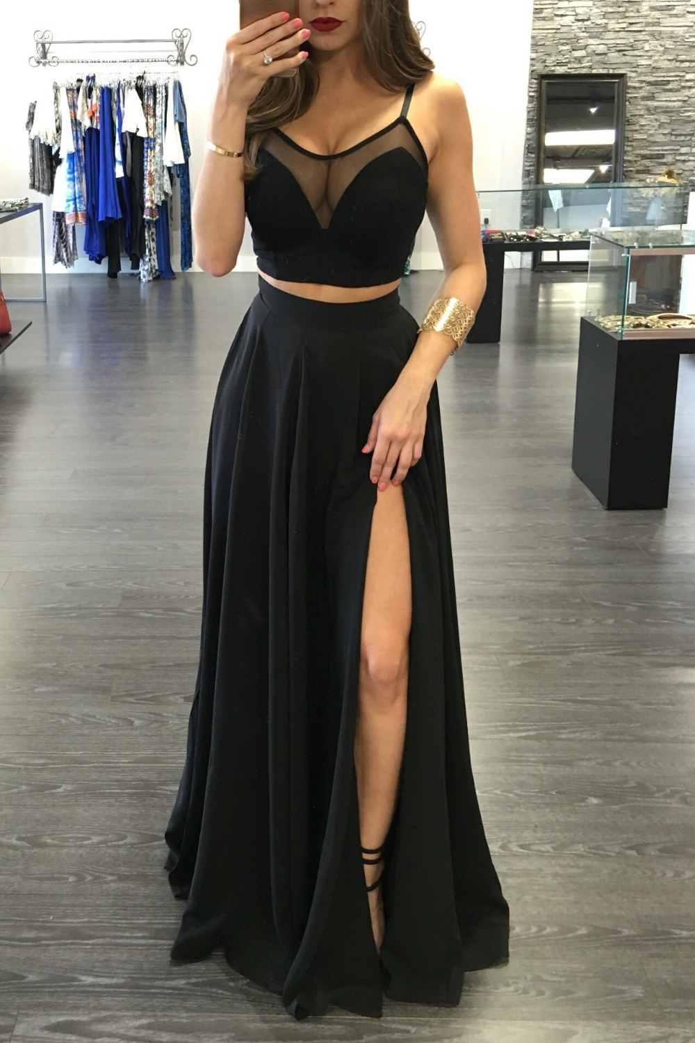 0b9db57f7e9 Black Prom Dress 2017 Prom Dresses Wedding Party Gown Formal Wear -  Thumbnail 1 ...