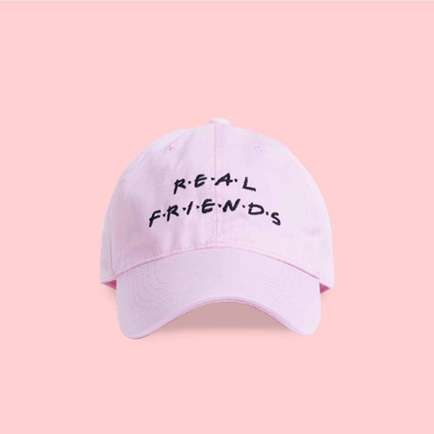 ad01e3e2bcb UNISEX REAL FRIENDS BASEBALL CAP IN PINK · soldrelax · Online Store ...