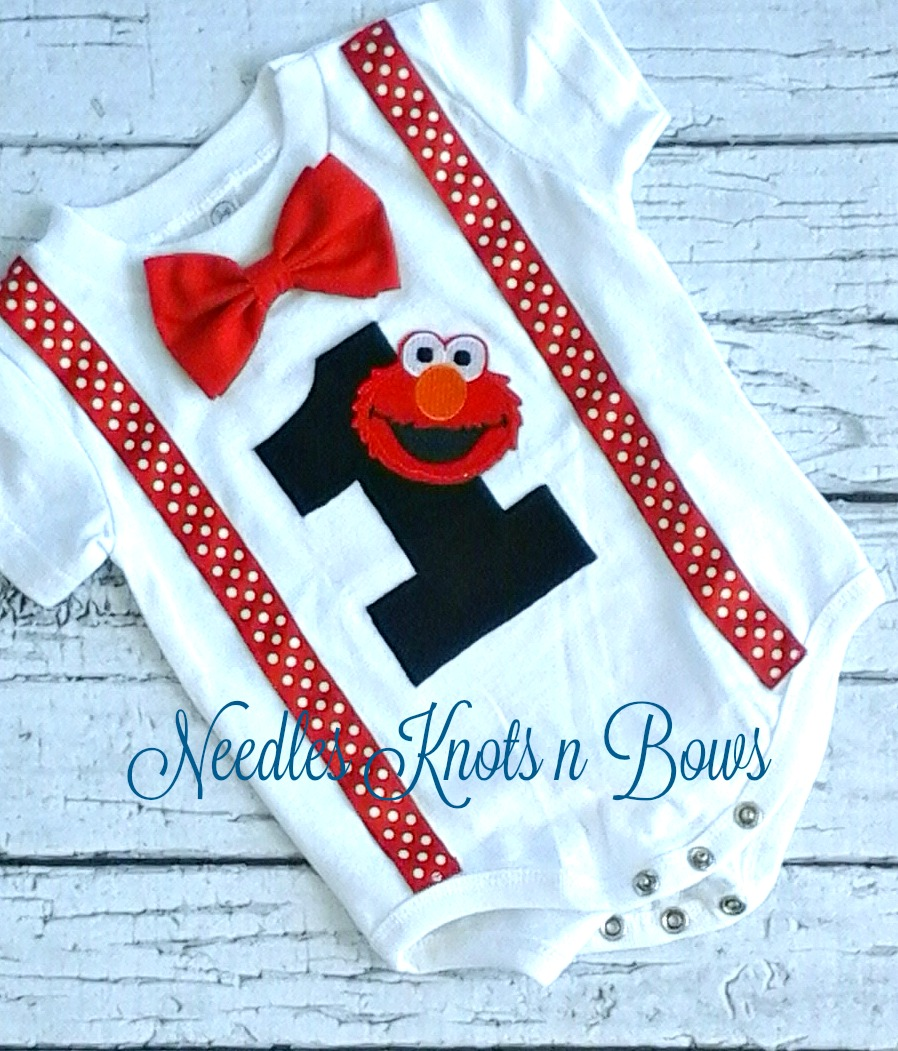 Boys Elmo Birthday T Shirt Or Onesie First