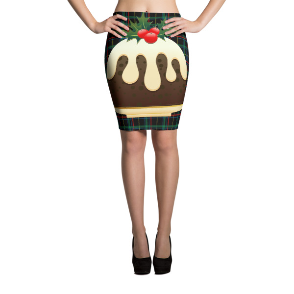 e97daff384 plaid christmas puddings Sublimation Cut & Sew Pencil Skirts · Ugly ...