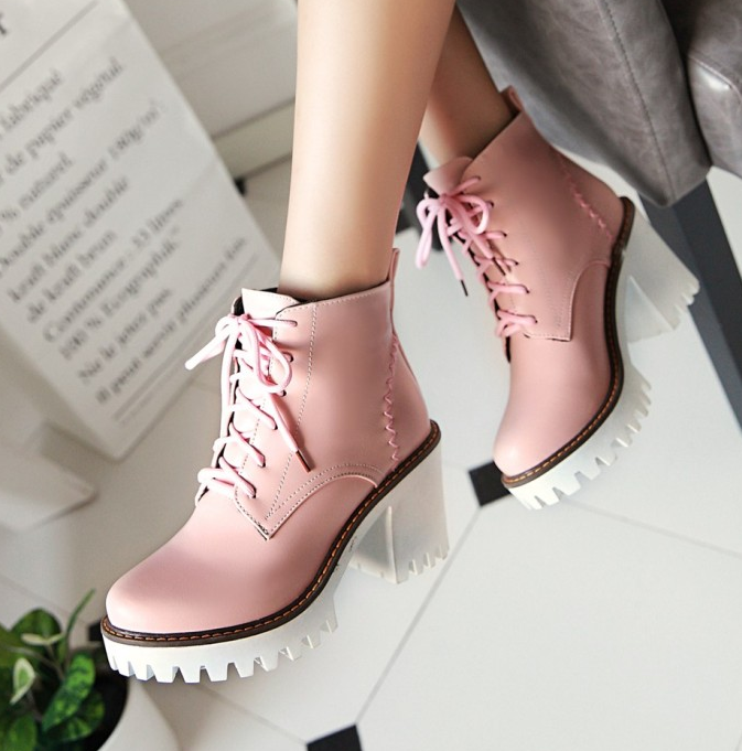 HARAJUKU LACE UP HIGH HEEL ANKLE BOOTS · Storeunic · Online Store Powered  by Storenvy