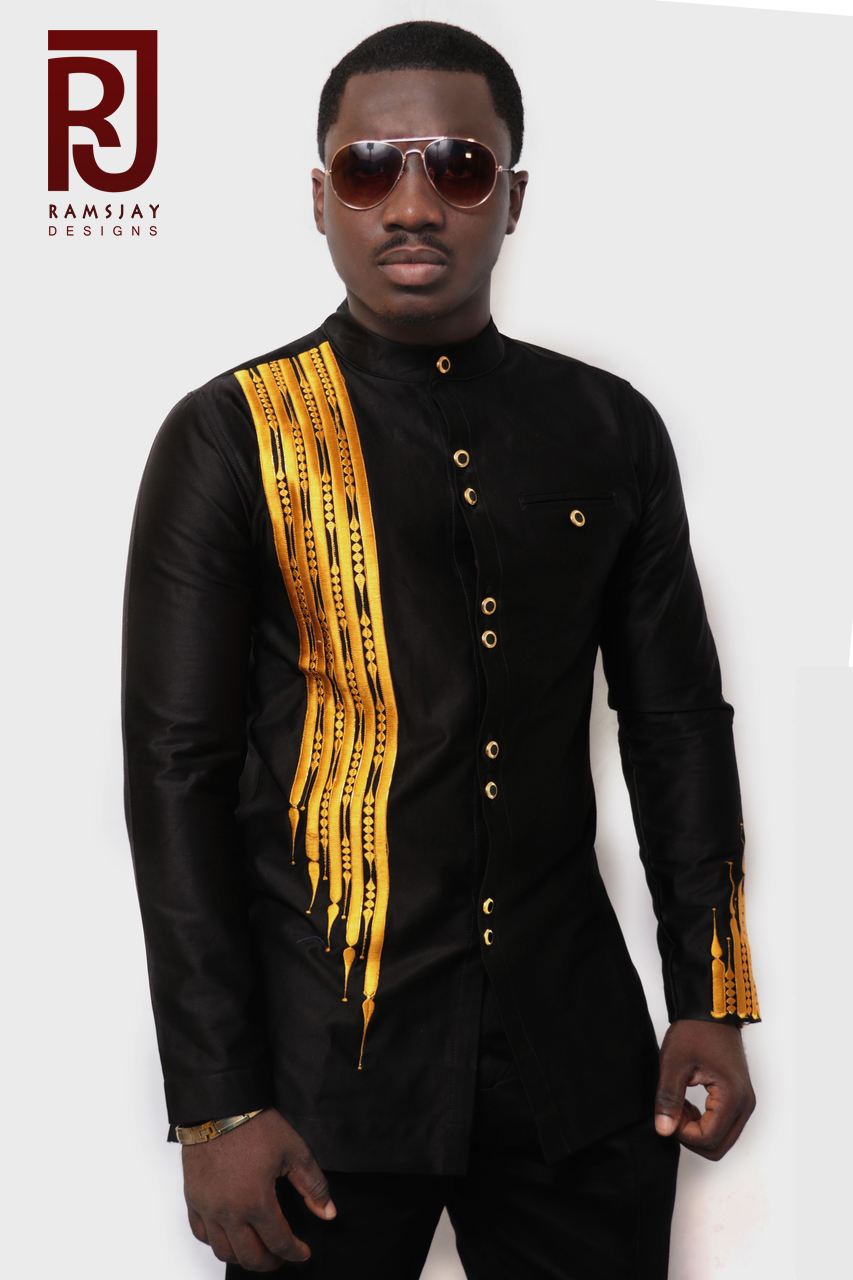 Black and Gold Menu0027s African Clothing African Wear Menu0027s Wear Fashion on  Storenvy