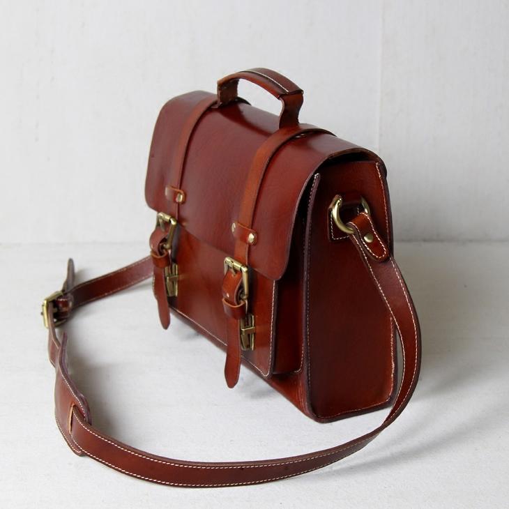 84423732c Handmade Vegetable Tanned Leather Briefcase / Messenger Bag #n30 - Thumbnail  1 ...