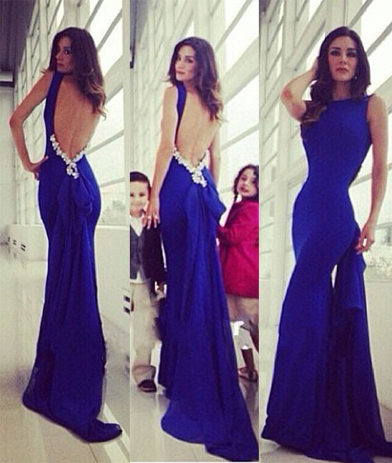 52e45eb1f1 royal blue backless long royal blue prom dress