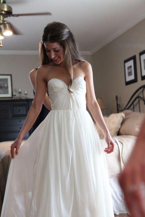 Simple Princess Wedding Dresses,Chiffon Wedding Dresses,Long Wedding ...