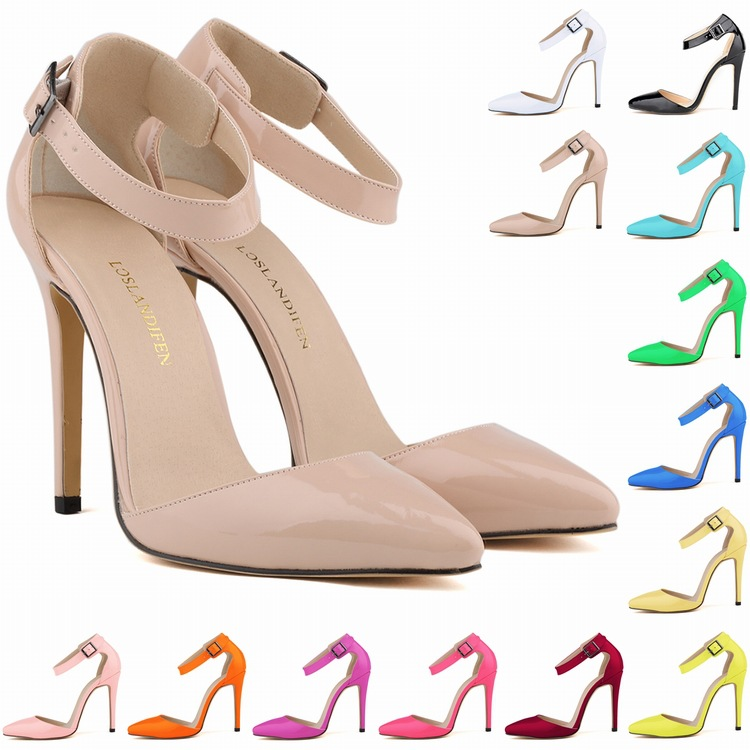 b84cfb0e7f7 Beauty Pointed High Heel Patent Leather Shoes