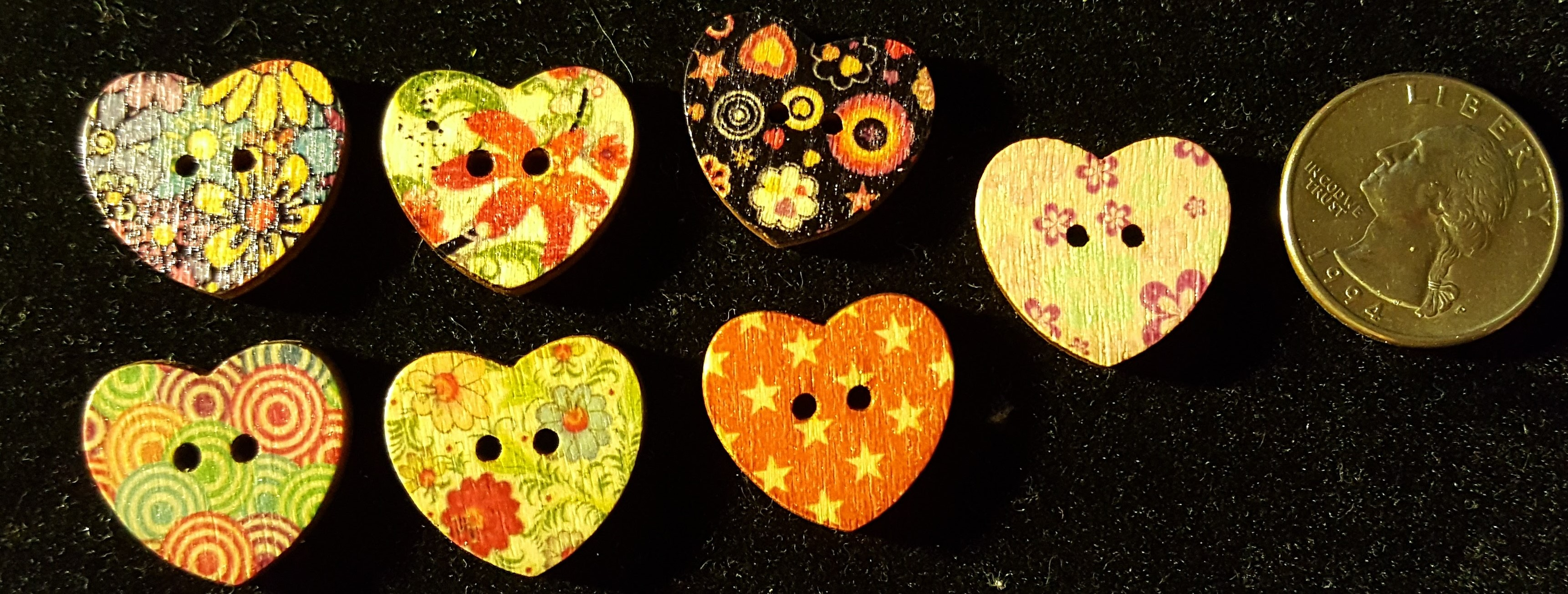 Heart Shaped Buttons #189 sold by Sin City Angels Consignment