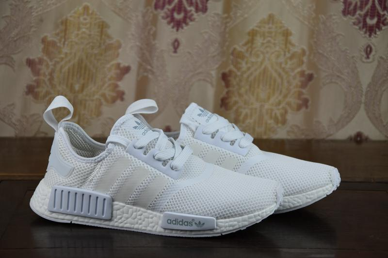 f89b678f9f14 2017 Adidas Originals UA NMD Runner R1 Mesh Triple White Cream Men Women  Running Shoes Sneakers Primeknit With Box on Storenvy